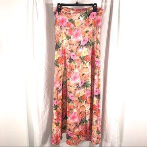 LulaRoe Gorgeous Flowers Maxi Skirt, size XL